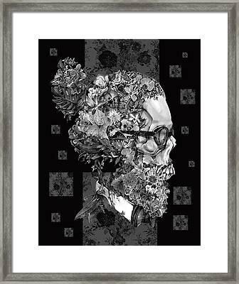Hipster Floral Skull 3 Framed Print