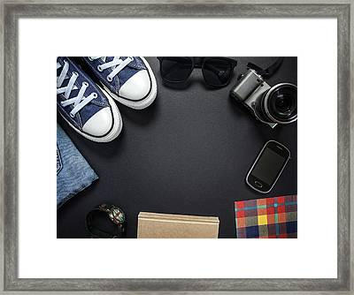 Hipsters Outfit Framed Print