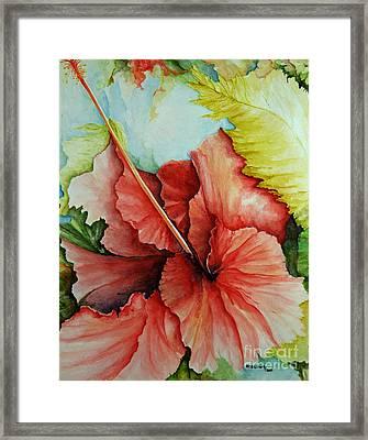 Hiroko's Hibiscus 2 Framed Print