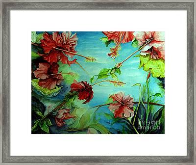 Hiroko's Hibiscus 4 Framed Print