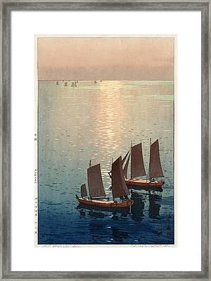 Hiroshi Yoshida, Hikaru Umi, The Sparkling Sea, 1926 Framed Print