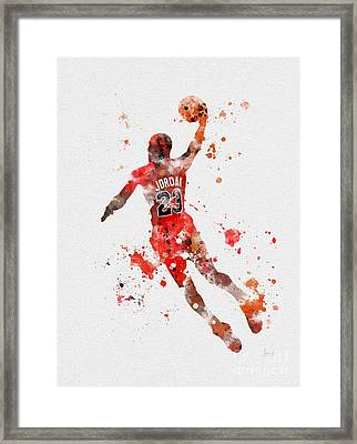 His Airness Framed Print by Rebecca Jenkins
