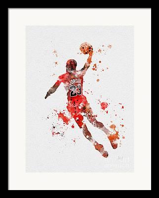 Slam Dunk Mixed Media Framed Prints