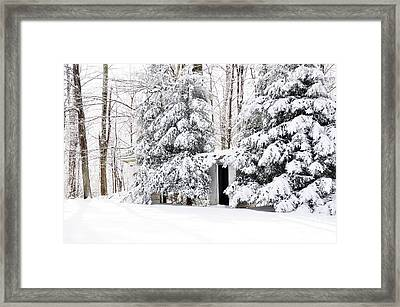 His And Her Outhouses Framed Print