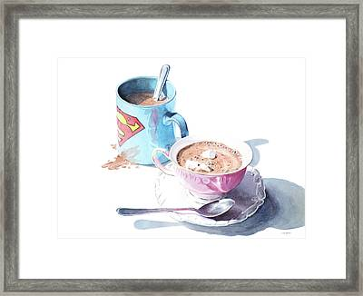 His And Hers Cocoa Framed Print by Christopher Reid