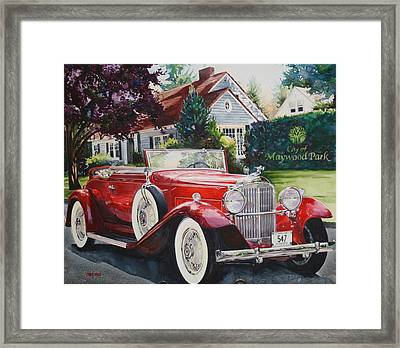 His And Hers Packard 1932 Framed Print by Mike Hill