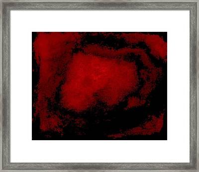 His Blood Lives Framed Print by Marsha Heiken