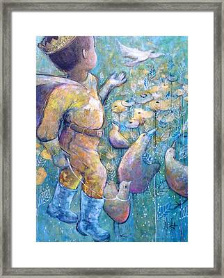 Framed Print featuring the painting His Dream by Eleatta Diver