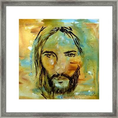 His Face Framed Print