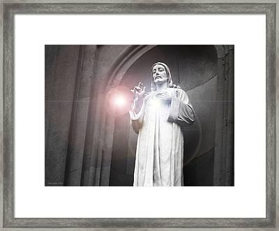 His Guiding Light  Framed Print