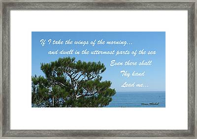 His Hand Shall Lead You Framed Print by Doreen Whitelock