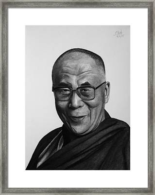 His Holiness The Dalai Lama Framed Print