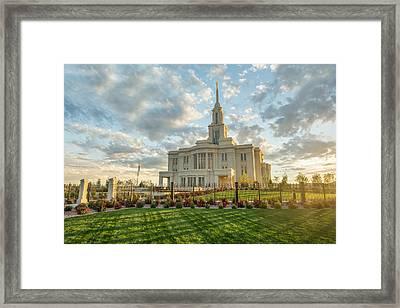 His Light Framed Print by Dustin  LeFevre
