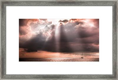His Light Of Reassurance Framed Print by Karen Wiles