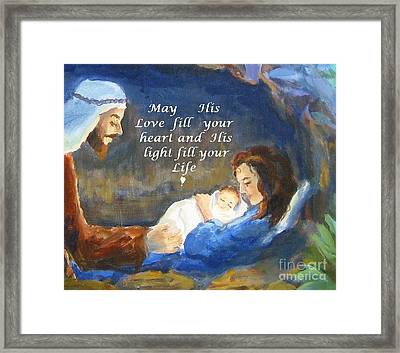 His Love And Light Framed Print by Maria Hunt