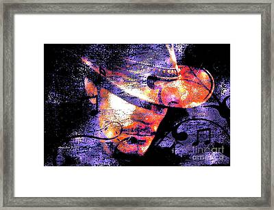 His Love Song  Framed Print by Annie Zeno