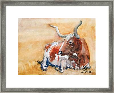 His Majesty Framed Print by Ron Stephens