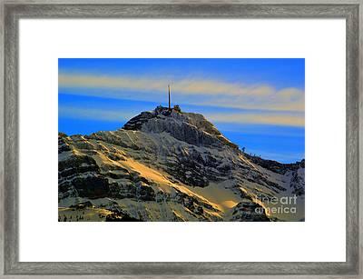 His Majesty - Winter In Switzerland Framed Print