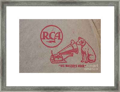 Framed Print featuring the photograph His Masters Voice Rca by Edward Fielding
