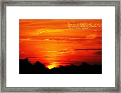 His Mercy Framed Print by Carol Deltoro