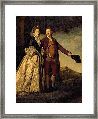 his Mother Framed Print by Williams