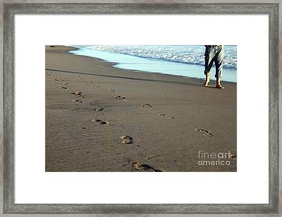 His Path Framed Print by Amanda Barcon
