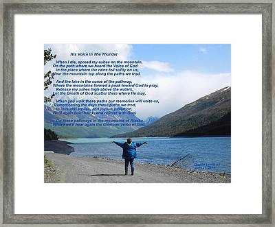 His Voice In The Thunder Framed Print by Diannah Lynch