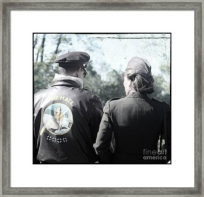 His Wing Mate  Framed Print by Steven Digman