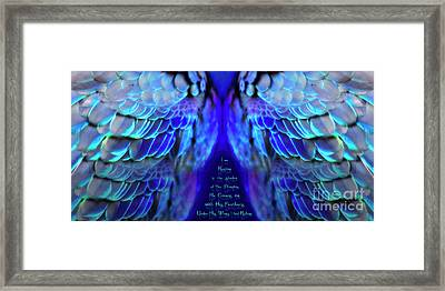 Beneath His Wings 2 Framed Print