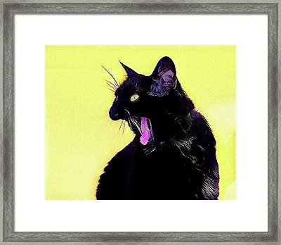 Hisssssss Go Away Framed Print