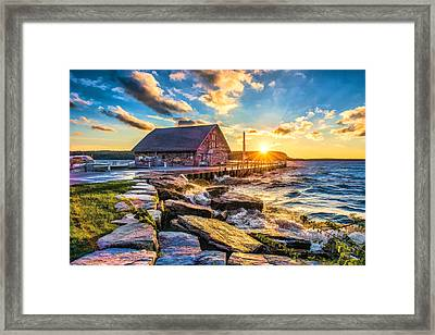 Historic Anderson Dock In Ephraim Door County Framed Print