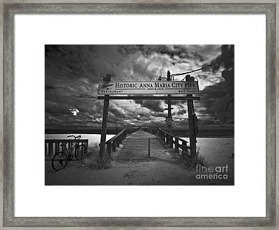 Historic Anna Maria City Pier 9177436 Framed Print