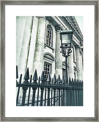 Historic Architecture Detail Framed Print by Tom Gowanlock