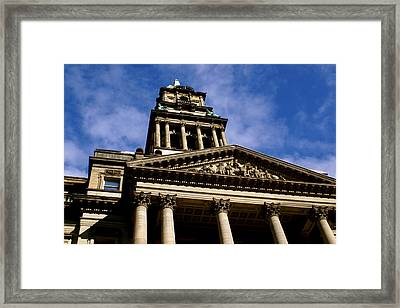 Historic Architecture Framed Print by Sonja Anderson