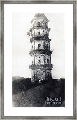 Historic Asian Tower Building Framed Print by Jorgo Photography - Wall Art Gallery