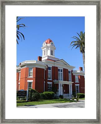 Historic Baker County Courthouse Framed Print by Warren Thompson