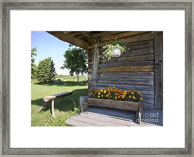 Historic Barn On Muhu Island Framed Print