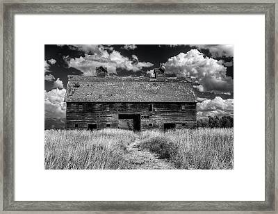 Historic Blasdel Barn In Kalispell Framed Print