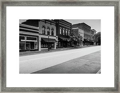 Historic Buford Downtown Area Framed Print