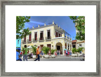 Historic Camaguey Cuba Prints Commercial Center 2 Framed Print by Wayne Moran