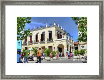 Historic Camaguey Cuba Prints Commercial Center 2 Framed Print
