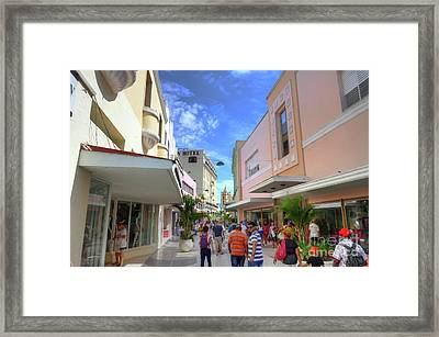 Historic Camaguey Cuba Prints Commercial Center Framed Print by Wayne Moran