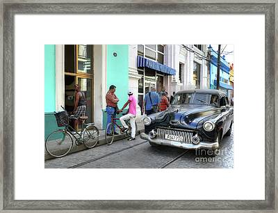 Historic Camaguey Cuba Prints The Cars 2 Framed Print by Wayne Moran