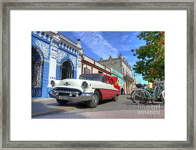 Historic Camaguey Cuba Prints The Cars Framed Print by Wayne Moran