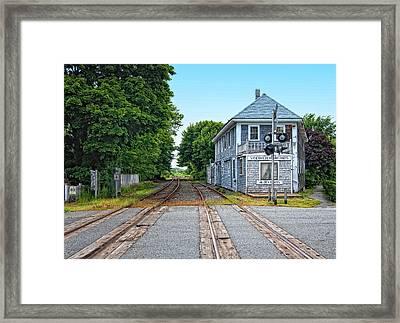 Historic Cape Cod Train Station Framed Print