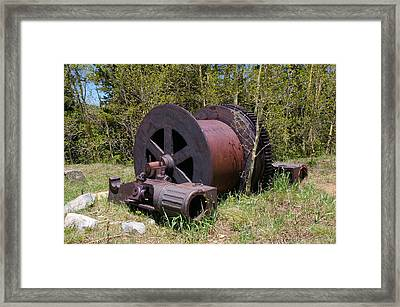Historic Caribou Mine Framed Print by Cynthia Cox Cottam