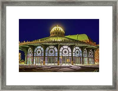 Historic Carousel Building, Asbury Park Nj Framed Print by Bob Cuthbert