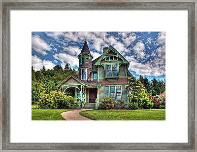 Historic Castle In Drain Oregon Framed Print by Tyra  OBryant