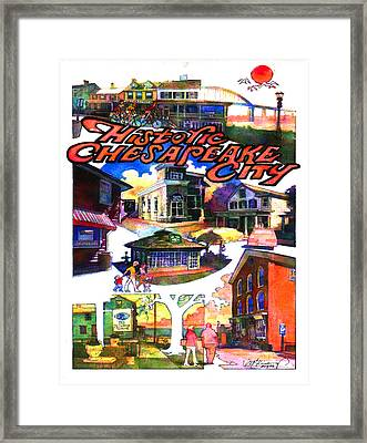 Historic Chesapeake City Poster Framed Print