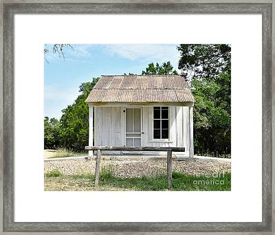 Framed Print featuring the photograph Historic Clint's Cabin by Ray Shrewsberry